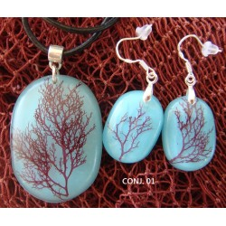 Pendientes Corallina